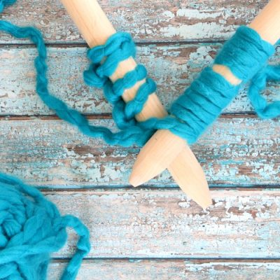 DIY Jumbo Knitting Needles