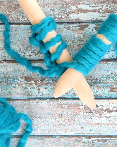 DIY Jumbo Knitting Needles