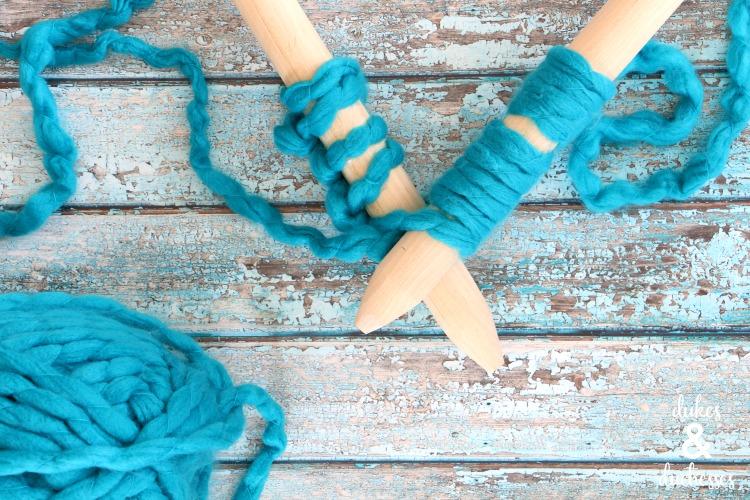 DIY knitting needles for jumbo knits