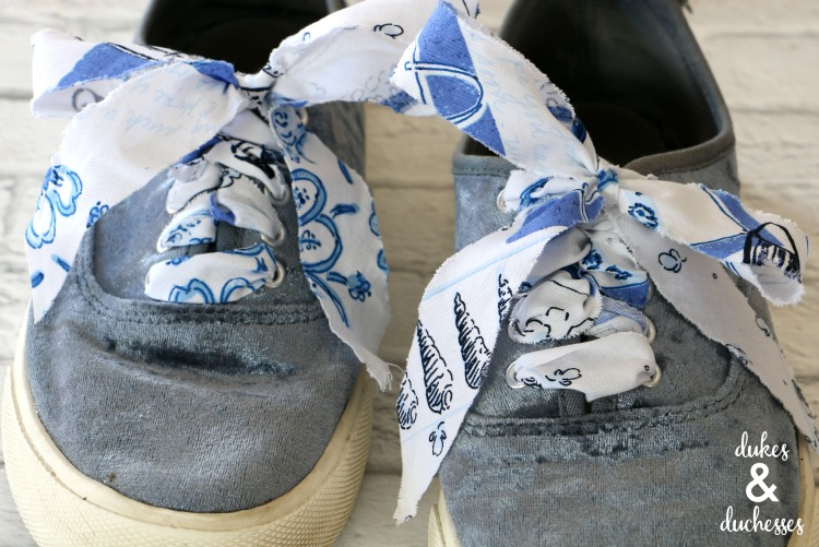 DIY patterned fabric shoelaces