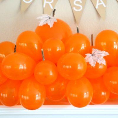 Balloon Pumpkin Patch Mantel Decor