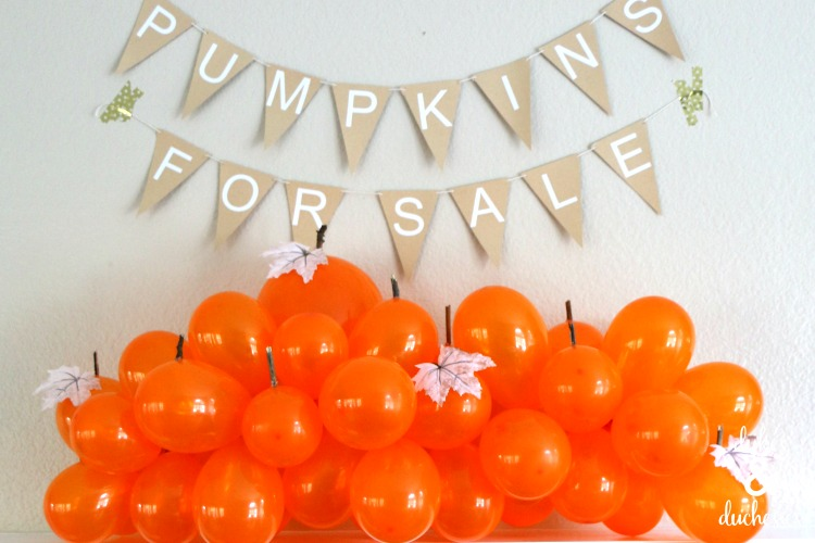 balloon pumpkin patch for halloween