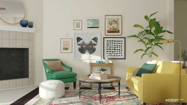 colorful room decor by modsy