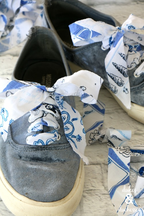 how to make fabric shoelaces