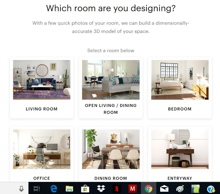 how to use modsy to redesign a room