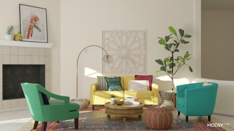 modsy design options for room makeover