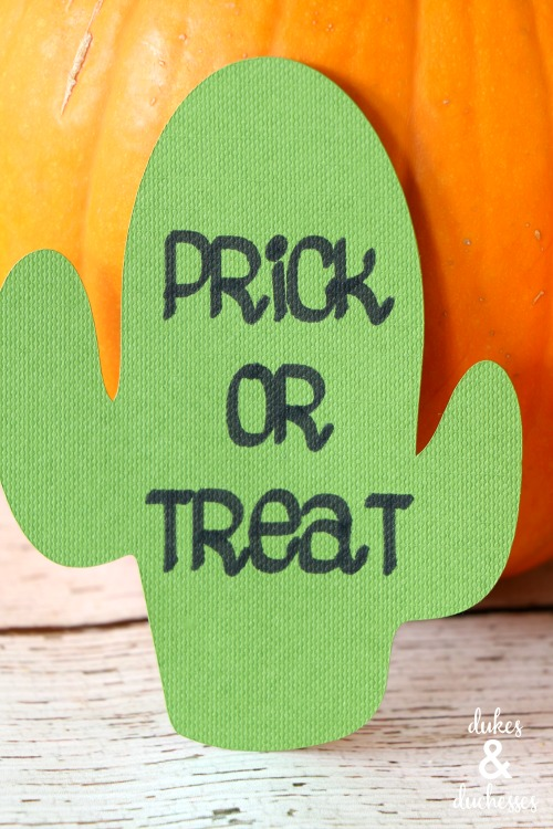prick or treat cactus gift tag