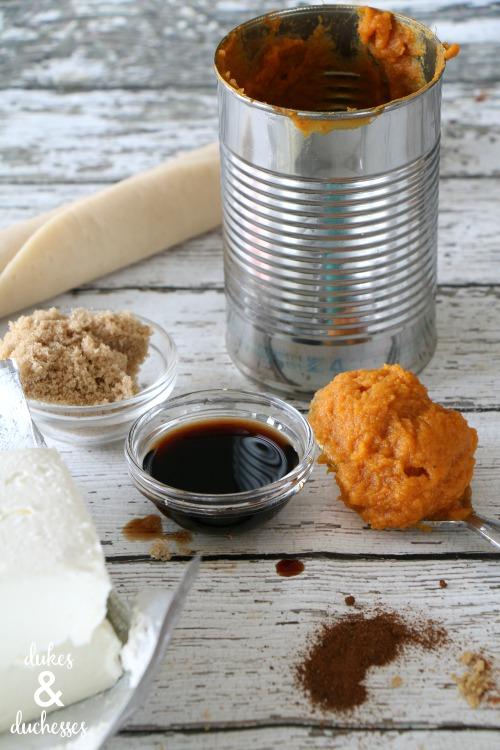 pumpkin cheesecake galette ingredients