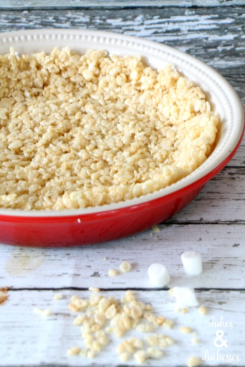 rice krispies treat crust for no bake pumpkin pie