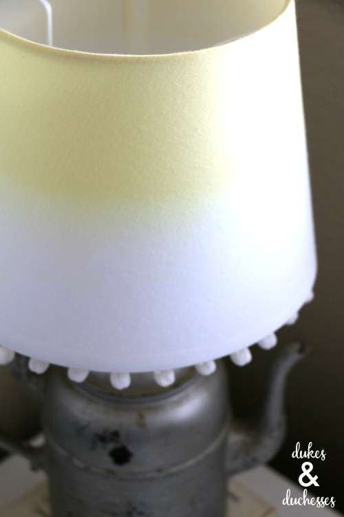 yellow dip dyed lampshade