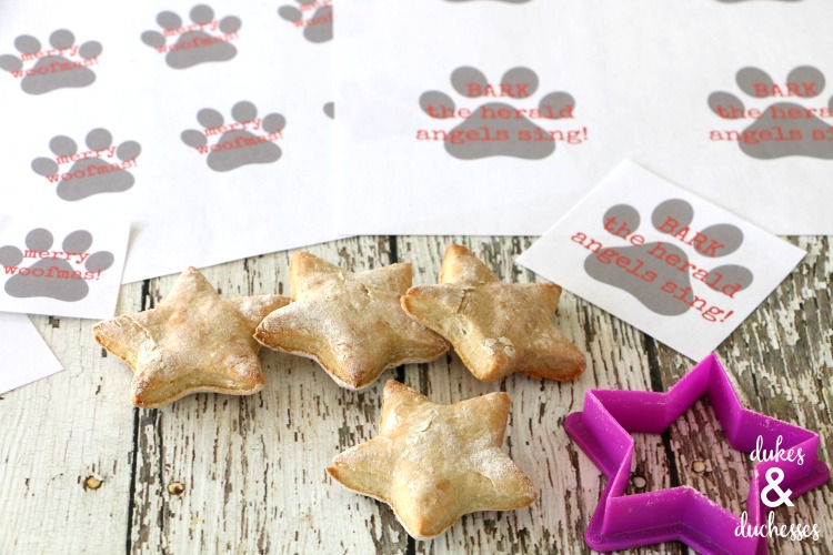 christmas dog biscuit recipe with printable tag