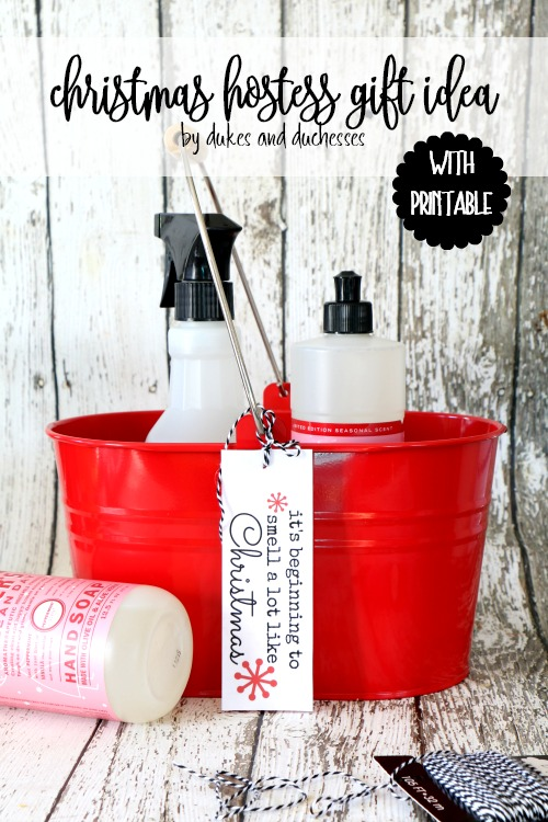 christmas hostess gift idea with printable