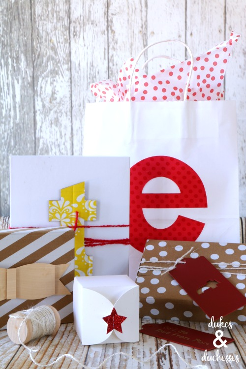 gift wrap ideas made with cricut maker