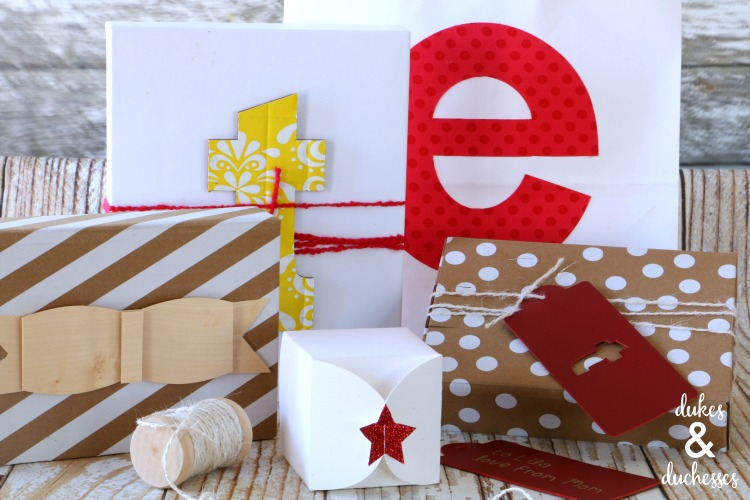 how to wrap gifts using the cricut maker