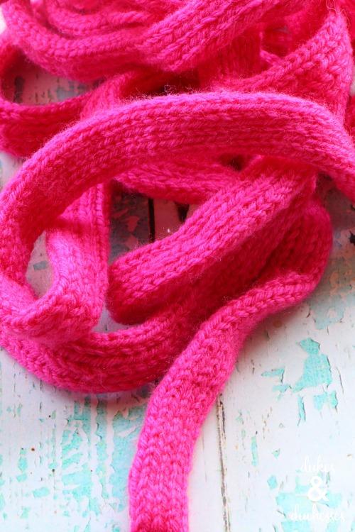 knit i cord garland
