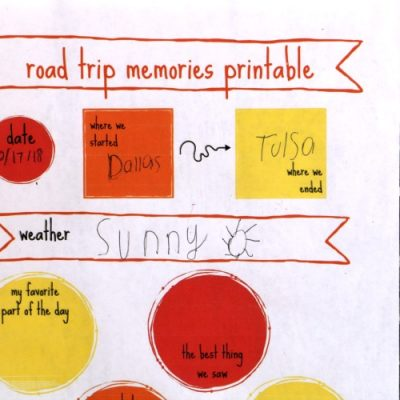 Road Trip Memories Printable
