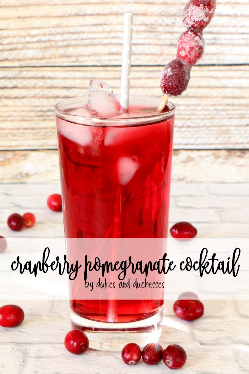 cranberry pomegranate cocktail