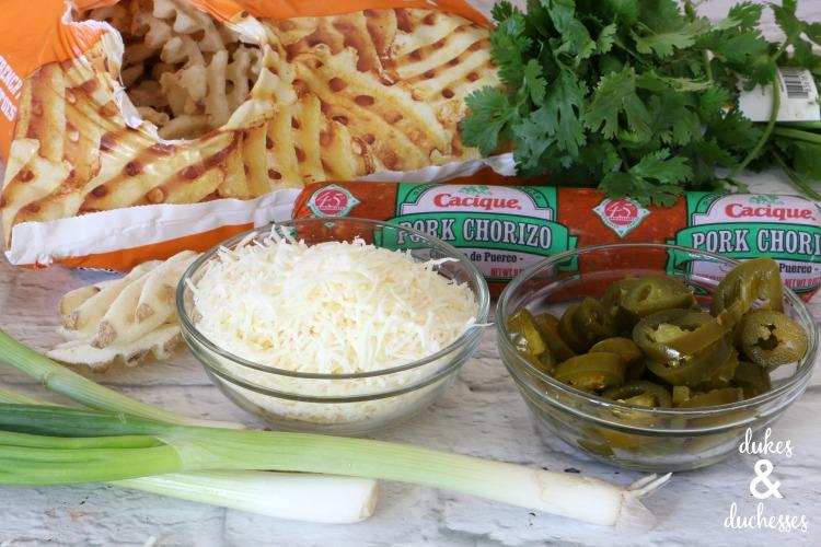 loaded chorizo fries ingredients