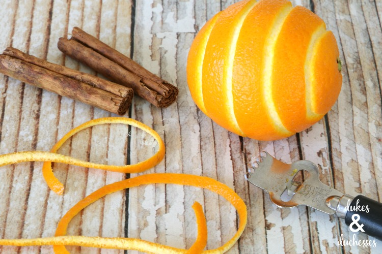 orange zest for infused honey
