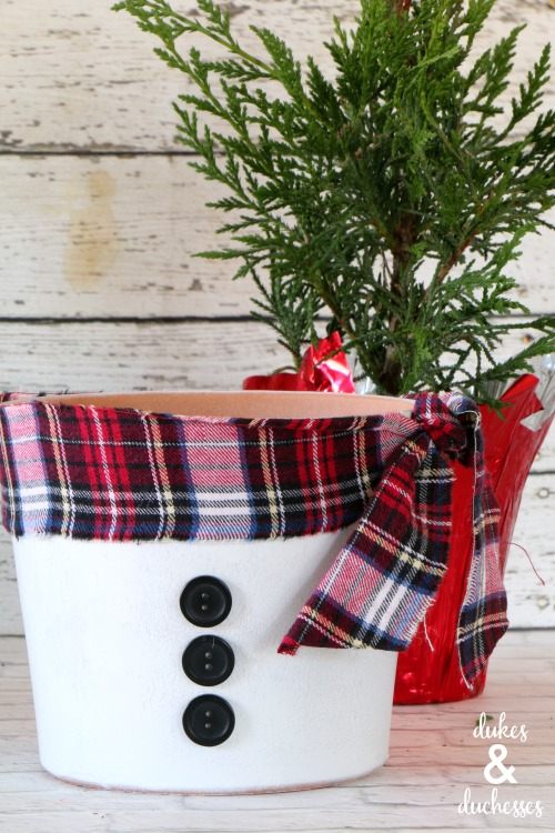 snowman flower pot craft