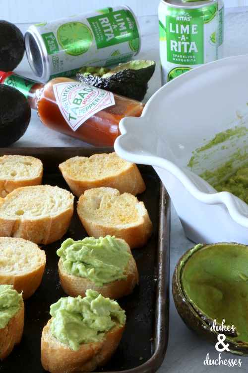 avocado toast bites for game day