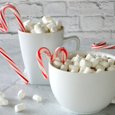 Candy Cane Heart Mug Toppers