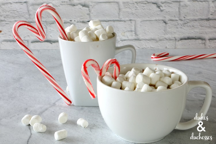 candy cane heart drink stirrers