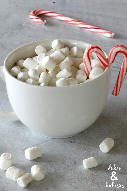 candy cane heart mug toppers for hot cocoa