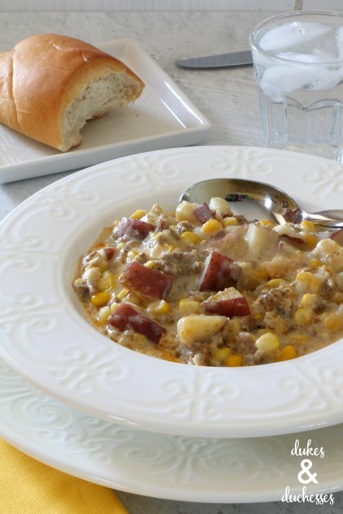 easy corn chowder recipe with sausage