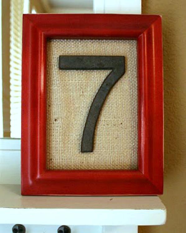 Framed family number art