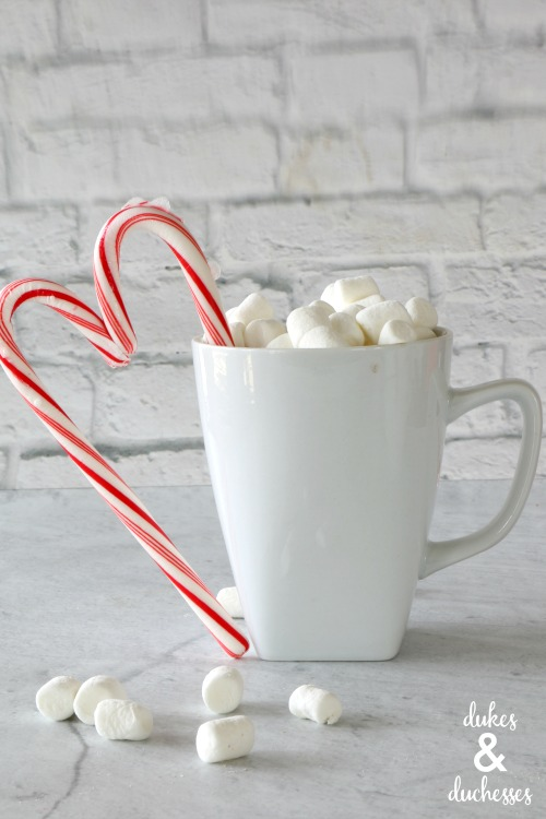 leftover candy cane heart drink stirrer for valentines day