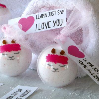 Printable Llama Valentine Tags