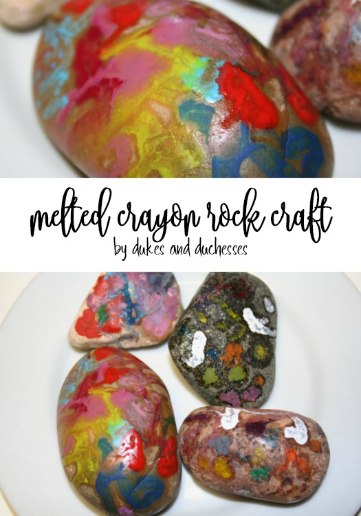 melted crayon rock craft