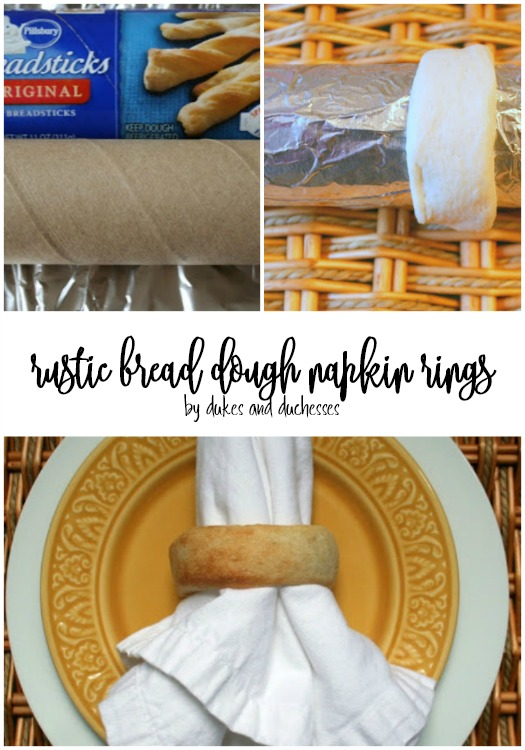 rustic bread dough napkin rings