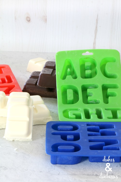 silicon molds to make letter candies