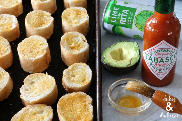 tabasco olive oil crostini