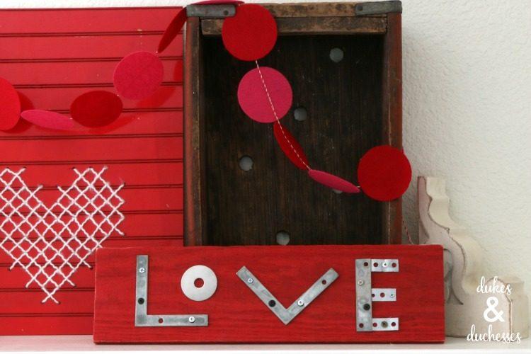 valentines day mantel decorations