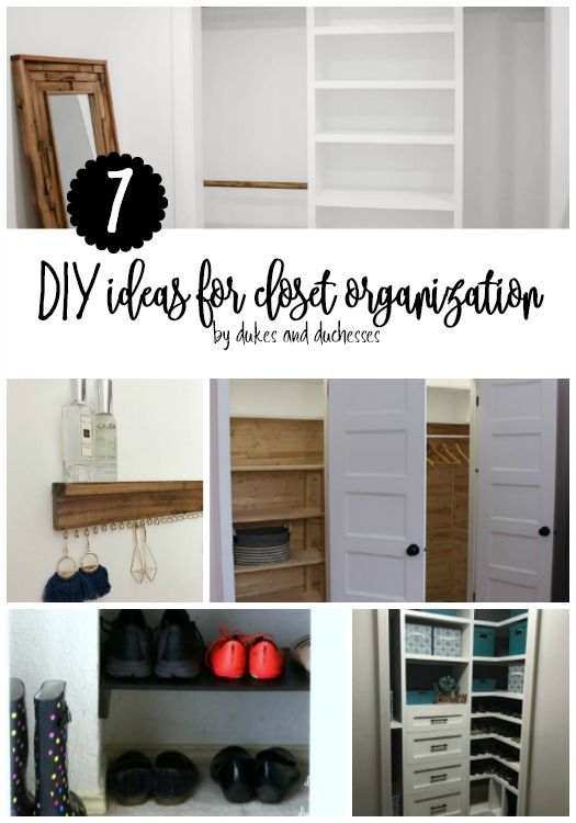 7 DIY ideas for closet organization