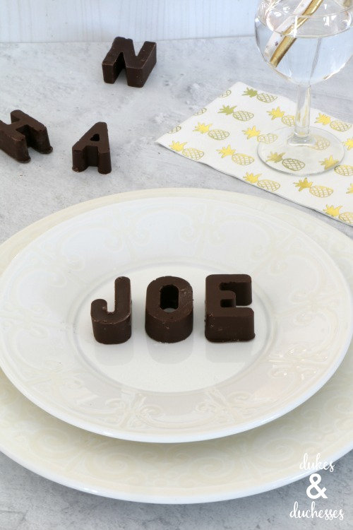 chocolate name place cards