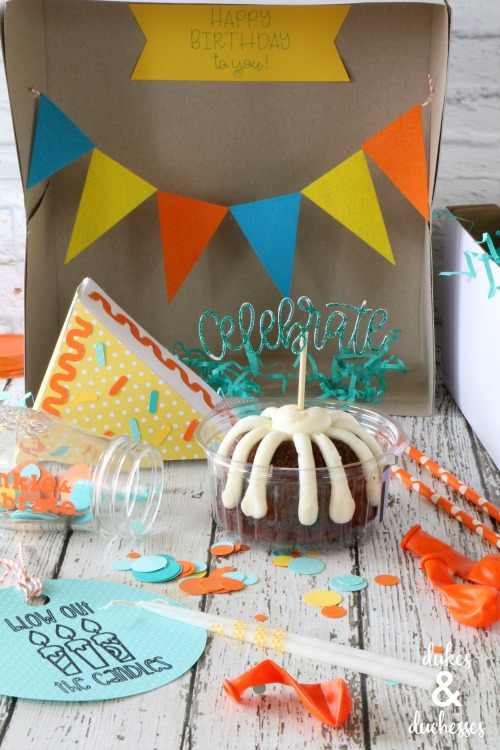 DIY birthday box gift idea