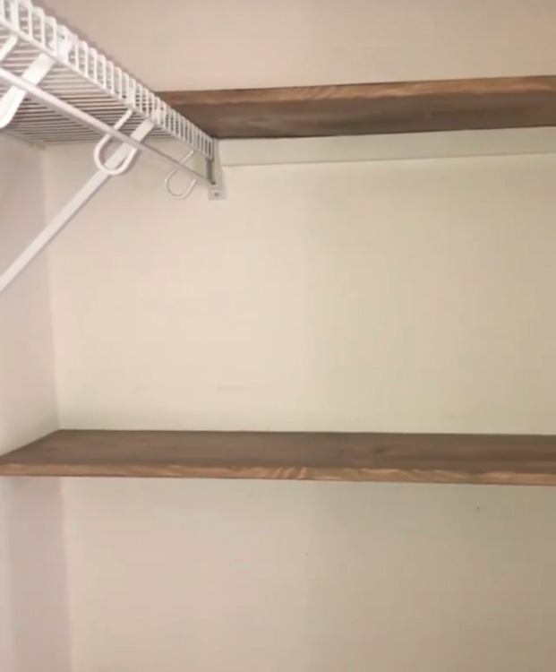 DIY closet shelf