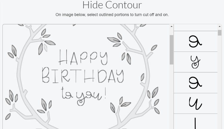 how to use contour tool in cricut design space