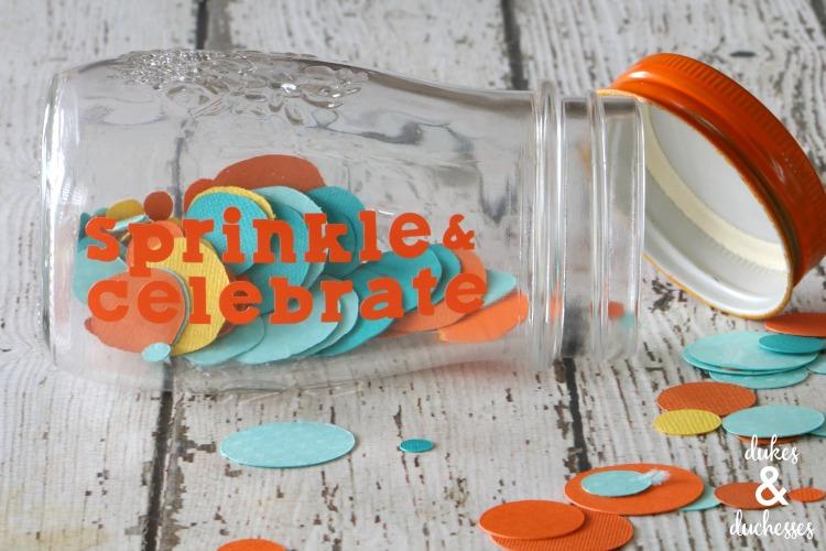 jar of confetti in birthday box