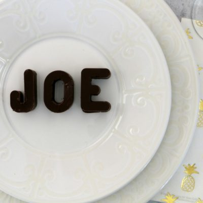 Easy Chocolate Name Place Cards
