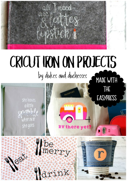 cricut iron on projects made with the easypress
