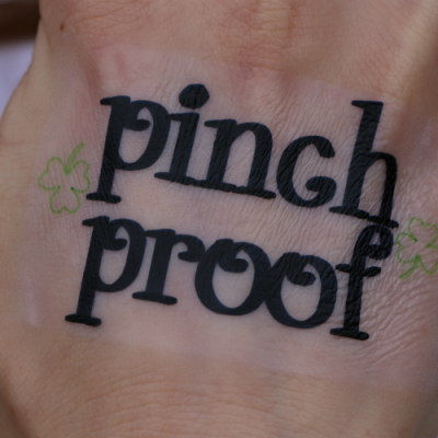 Homemade Temporary Pinch Proof Tattoo for St. Patrick's Day