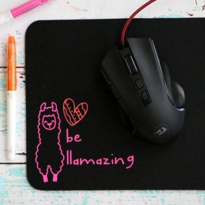 DIY Llama Mouse Pad