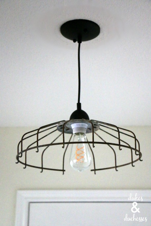 DIY repurposed light fixture