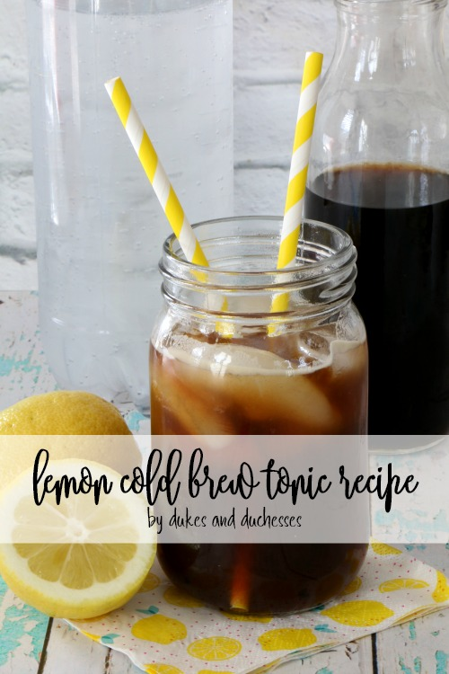 easy lemon cold brew tonic recipe