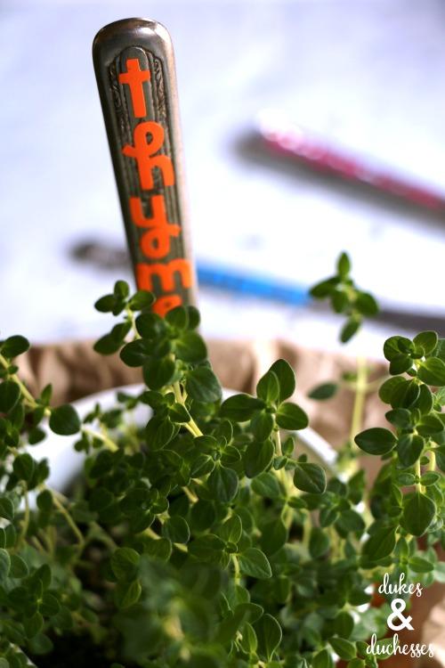 repurposed garden marker idea